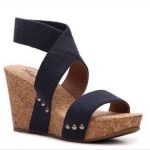 Lucky brand Marinah cork wedge sandals